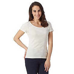 The Collection - Ivory plain scoop neck t-shirt