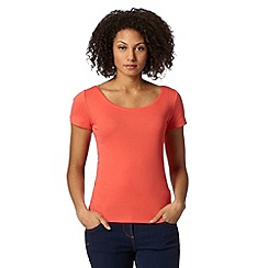 The Collection - Coral scoop neck t-shirt