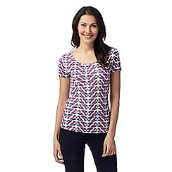 The Collection - Dark pink butterfly top
