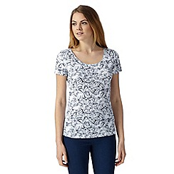 The Collection - Navy plant print top