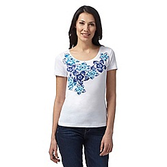 The Collection - Turquoise spotty floral placement t-shirt