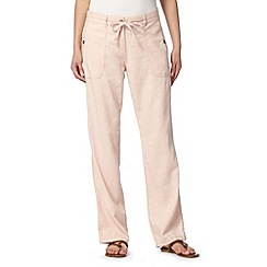 The Collection - Light pink linen blend trousers