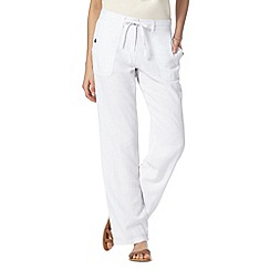 The Collection - White linen blend trousers
