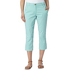 The Collection - Aqua cropped chinos