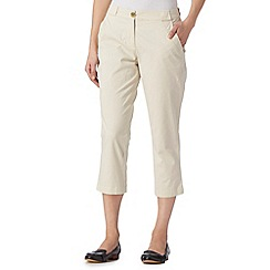 The Collection - Light cream cropped chinos