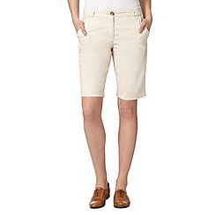 The Collection - Cream short chinos