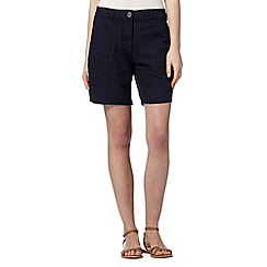 The Collection - Navy linen blend shorts