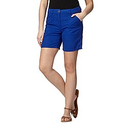 The Collection - Royal blue linen blend shorts
