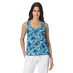 The Collection - Turquoise leaf print bubble hem vest