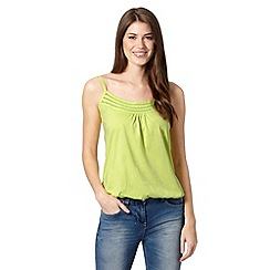 The Collection - Lime pleat trim cami