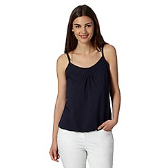 The Collection - Navy pleat trim bubble camisole
