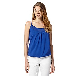 The Collection - Bright blue pleat trim cami