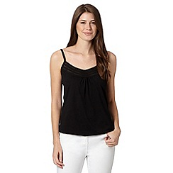 The Collection - Black pleat trim cami