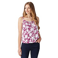 The Collection - Dark pink palm print cami
