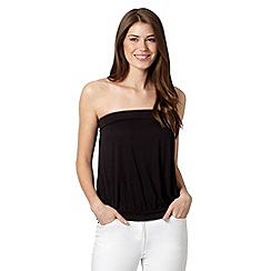 The Collection - Black plain bandeau top