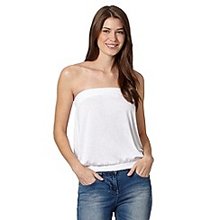 The Collection - White plain bandeau top