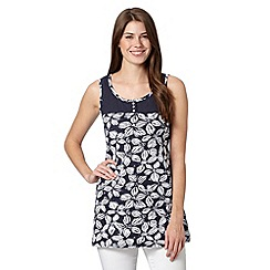 The Collection - Navy sleeveless tunic top