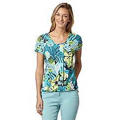 The Collection - Turquoise paradise print bubble top