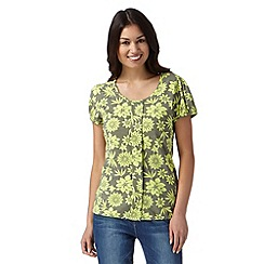 The Collection - Lime floral print bubble hem top