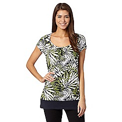 The Collection - Navy jungle print tunic top