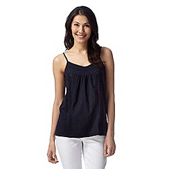 The Collection - Navy lace trim cami top