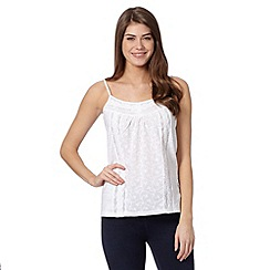 The Collection - White crochet lace trim camisole