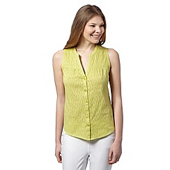 The Collection - Lime burnout button through top