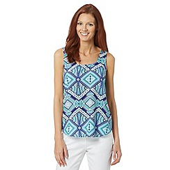 The Collection - Turquoise aztec print vest