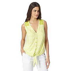 The Collection - Lime haiti print lace vest