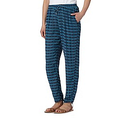 The Collection - Navy tiled print trousers