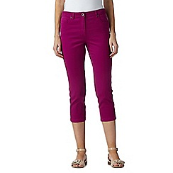 The Collection - Dark pink cropped jeans