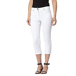 The Collection - White cropped jeans