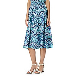 The Collection - Turquoise aztec print skirt