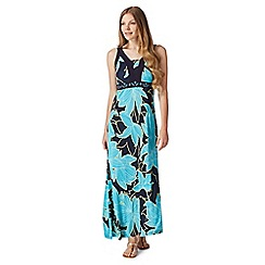 The Collection - Navy floral beaded maxi dress