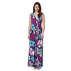 The Collection - Dark pink paradise print jersey maxi dress