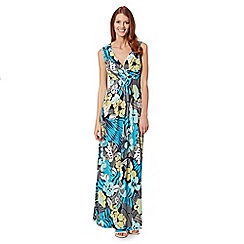 The Collection - Lime paradise print jersey maxi dress