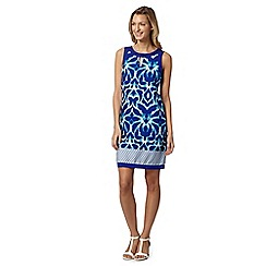 The Collection - Dark blue mirror print dress