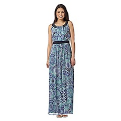 The Collection - Turquoise tiled print maxi dress