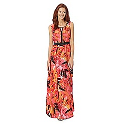 The Collection - Bright pink painted palm maxi dress