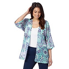 The Collection - Turquoise beach circle sun print kimono