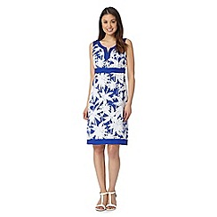 The Collection - Bright blue palm trees printed dress