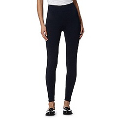 The Collection - Navy wide waistband leggings