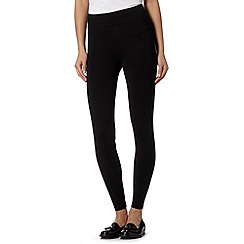 The Collection - Black wide waistband leggings