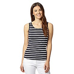 The Collection - Navy striped scoop neck vest