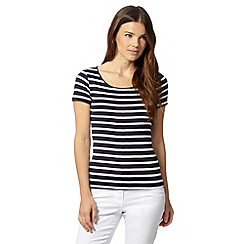 The Collection - Navy striped scoop neck t-shirt