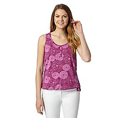 The Collection - Dark pink dahlia print vest top