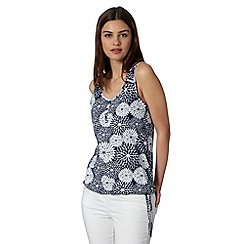 The Collection - Navy floral print bubble top