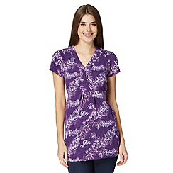 The Collection - Purple rubber leaf print tunic
