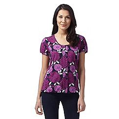 The Collection - Purple floral pleat bubble top