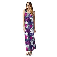 The Collection - Navy large floral print maxi dress